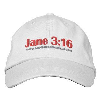 Jane 3:16 Hat Embroidered Baseball Caps