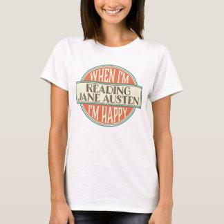 Jane Austen Book Lover Reading Womens T-shirt