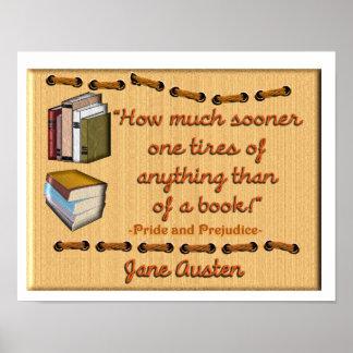 Jane Austen book quote - Poster
