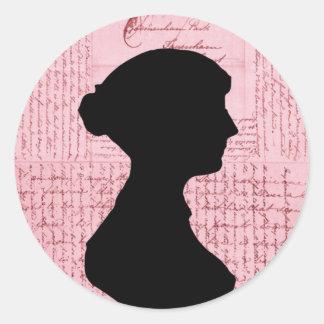 Jane Austen Call Me Lady Jane Series Round Sticker