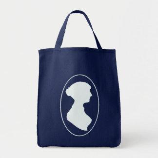 Jane Austen Cameo Grocery Shopping Bag
