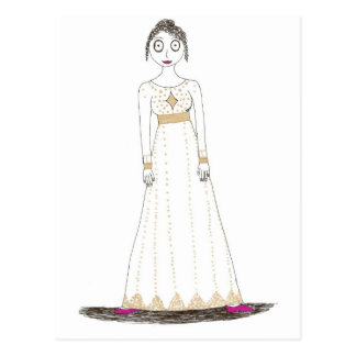 Jane Austen Creepy Gold Postcard