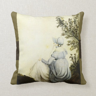 Jane Austen Custom Throw Pillow