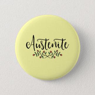 Jane Austen Floral Austenite 6 Cm Round Badge