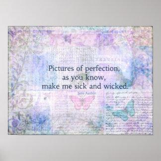 Jane Austen humorous, snarky quote Poster