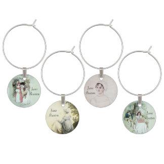 Jane Austen Inspired Wine Charms
