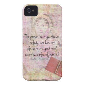 Jane Austen  Intolerably Stupid quote humor iPhone 4 Case-Mate Cases