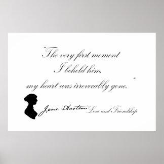Jane Austen Love and Friendship Quote Poster