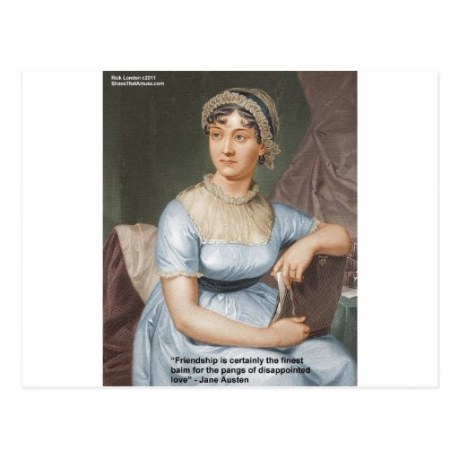 Jane Austen Love Finest Balm Quote Cards & Gifts Post Cards