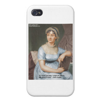Jane Austen Loved U Less Quote On Gifts & Cards iPhone 4 Cover