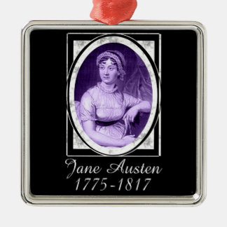 Jane Austen Metal Ornament