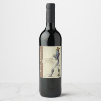 Jane Austen Mr. Darcy Personalised Wine Label