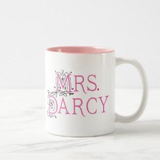 Jane Austen Mrs Darcy Gift Two-Tone Mug