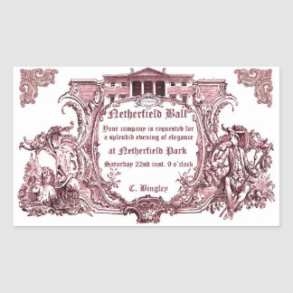Jane Austen: Netherfield Ball Sticker