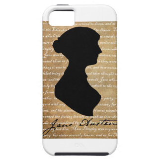 Jane Austen Page Silhouette Tough iPhone 5 Case