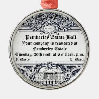 Jane Austen Pemberley Estate Ball Christmas Ornament