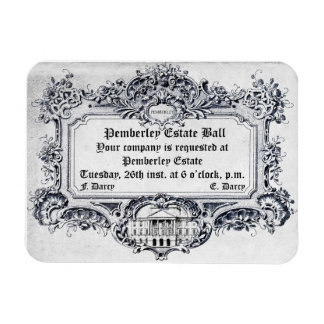 Jane Austen Pemberley Estate Ball Rectangle Magnet
