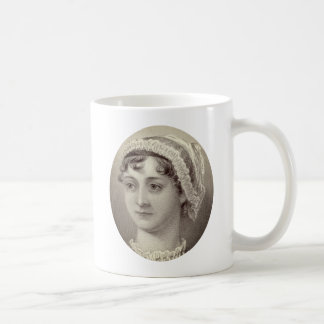 Jane Austen Portrait and Quote ...Nothing but tea Coffee Mug