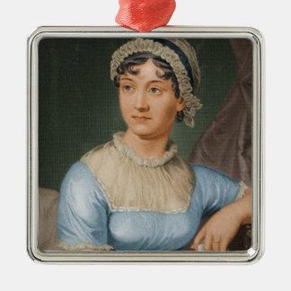 Jane Austen Portrait Christmas Holiday Metal Ornament