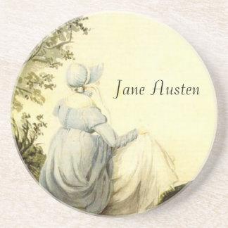 Jane Austen Portrait Custom Sandstone Coaster