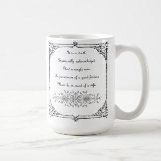 Jane Austen Pride and Prejudice Inspiration Mug
