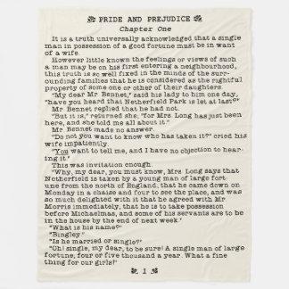 Jane Austen Pride and Prejudice Literature Quote Fleece Blanket