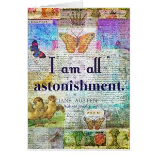 Jane Austen Pride and Prejudice Quote Card