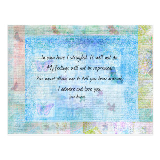 Jane Austen Pride and Prejudice Quote Postcard