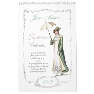 Jane Austen Quotations 2013 Calendar