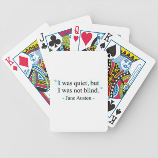 Jane Austen quote Bicycle Playing Cards