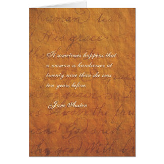 Jane Austen Quote Birthday Card CUSTOMIZED