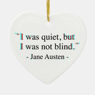 Jane Austen quote Ceramic Heart Decoration