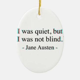 Jane Austen quote Ceramic Oval Decoration