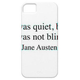 Jane Austen quote iPhone 5 Case