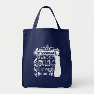 Jane Austen Quote My Courage Always Rises P&P PPZ Tote Bag