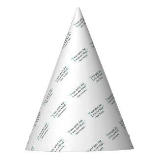 Jane Austen quote Party Hat