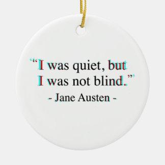 Jane Austen quote Round Ceramic Decoration