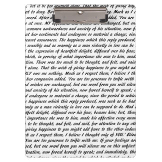 Jane Austen Quotes Double-Sided Clipboard