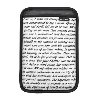 Jane Austen Quotes Double-Sided iPad Mini Sleeve
