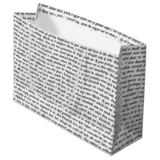 Jane Austen Quotes Large Gift Bag