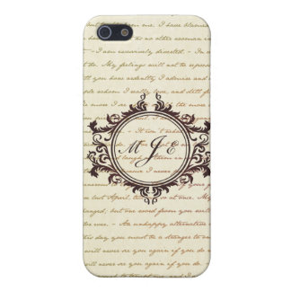 Jane Austen Quotes Monogram Initials Script iPhone 5/5S Cover