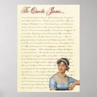 Jane Austen Quotes Pride and Prejudice Emma S S Print