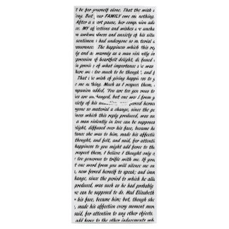 Jane Austen Quotes Wine Gift Bag
