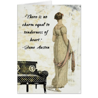 Jane Austen Regency Inspired Design Card