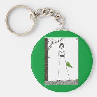 Jane Austen rice Key Ring