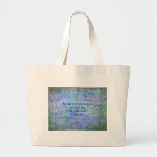 Jane Austen romantic quote Mr. Darcy Large Tote Bag