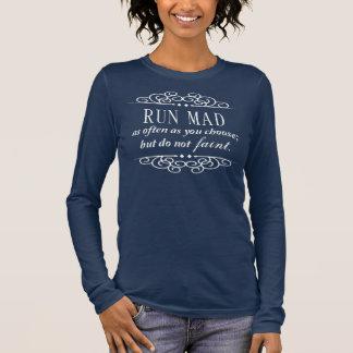 Jane Austen Run Mad / Do not Faint quote t-shirt