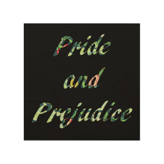 Jane Austen's Pride and Prejudice Wood Wall Art