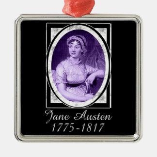 Jane Austen Silver-Colored Square Decoration