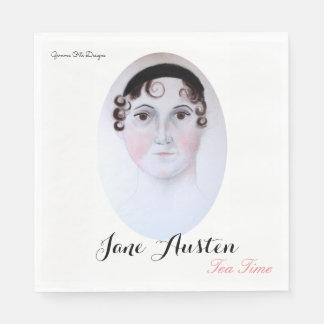 Jane Austen tea time paper napkin. Disposable Serviettes